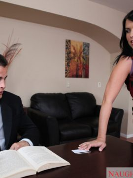 Lacie james fucking in the office with her big ass in naughty office